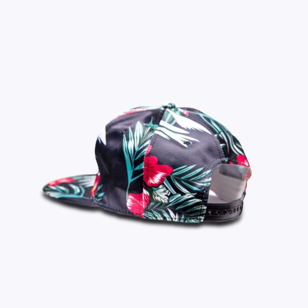 DHFLY-Floral-signature-unisex-hat-with-snapback-closure-back